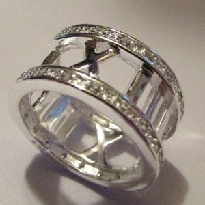 Jewelry - Wide Band Sterling Silver Roman Numerals Ring